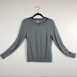 WORTHINGRON Grey Long Sleeve Boat Neck Sweater Wom